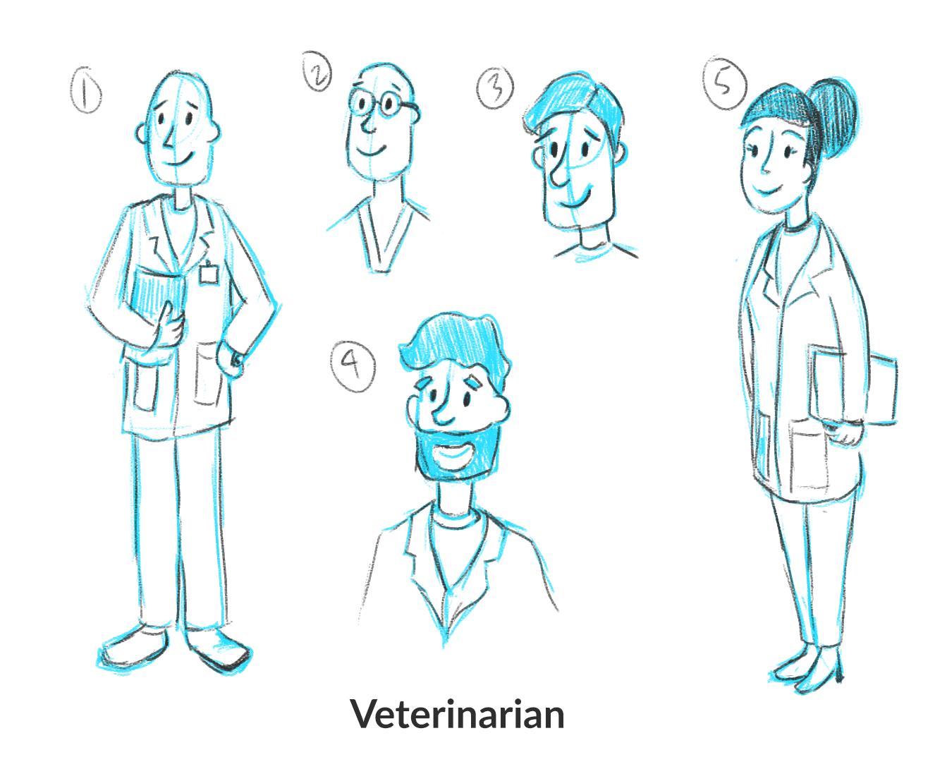 Veterinary Design Sketches
